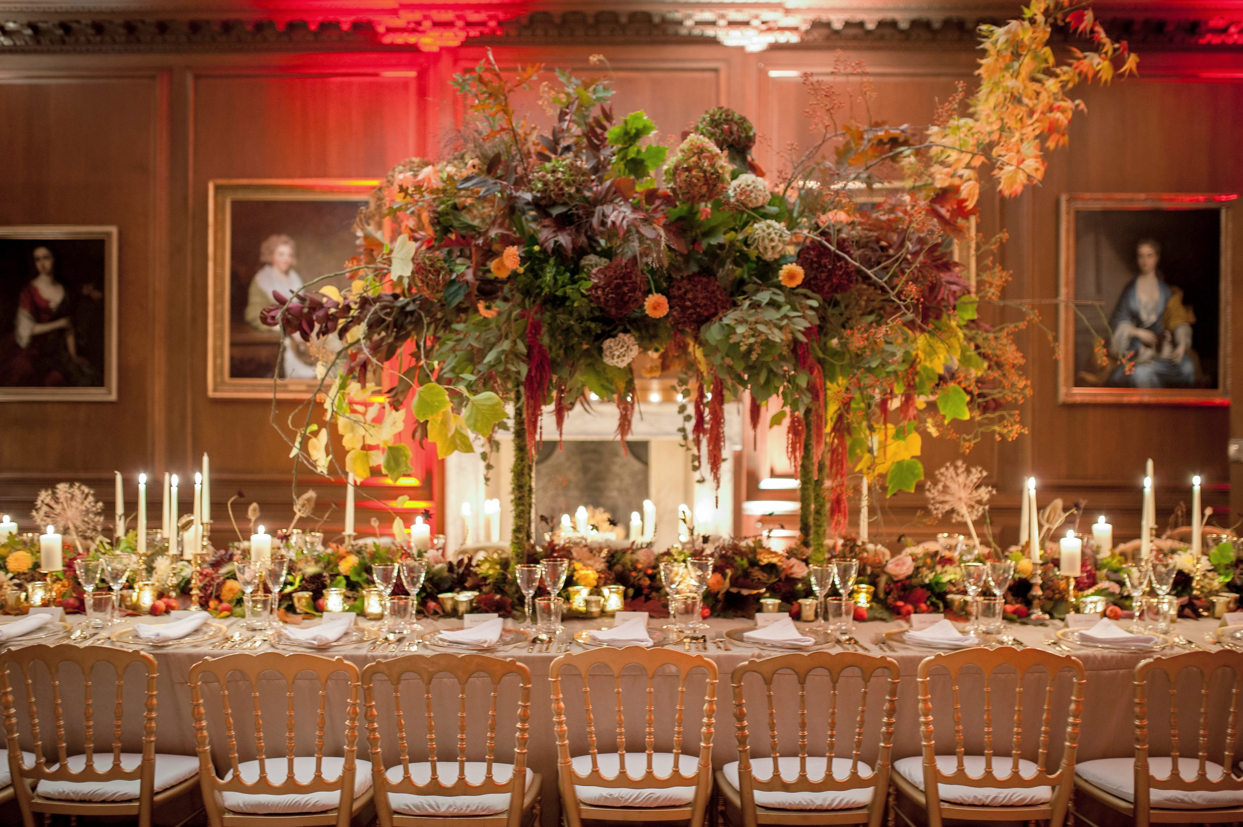 Bringing the outside in; Autumn Event Dinner at Cowdray House