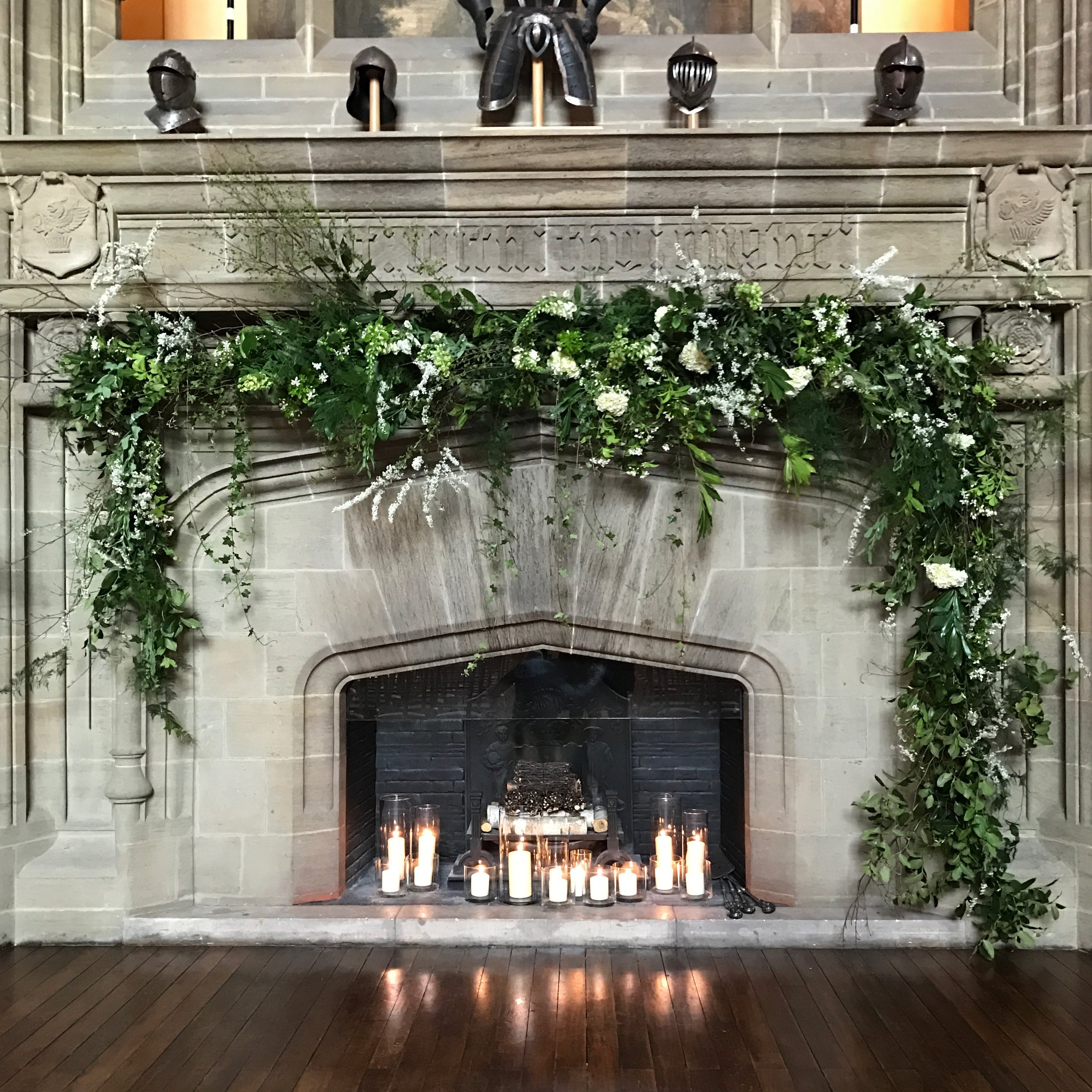 Buck Hall Cowdray House Fireplace Flowers