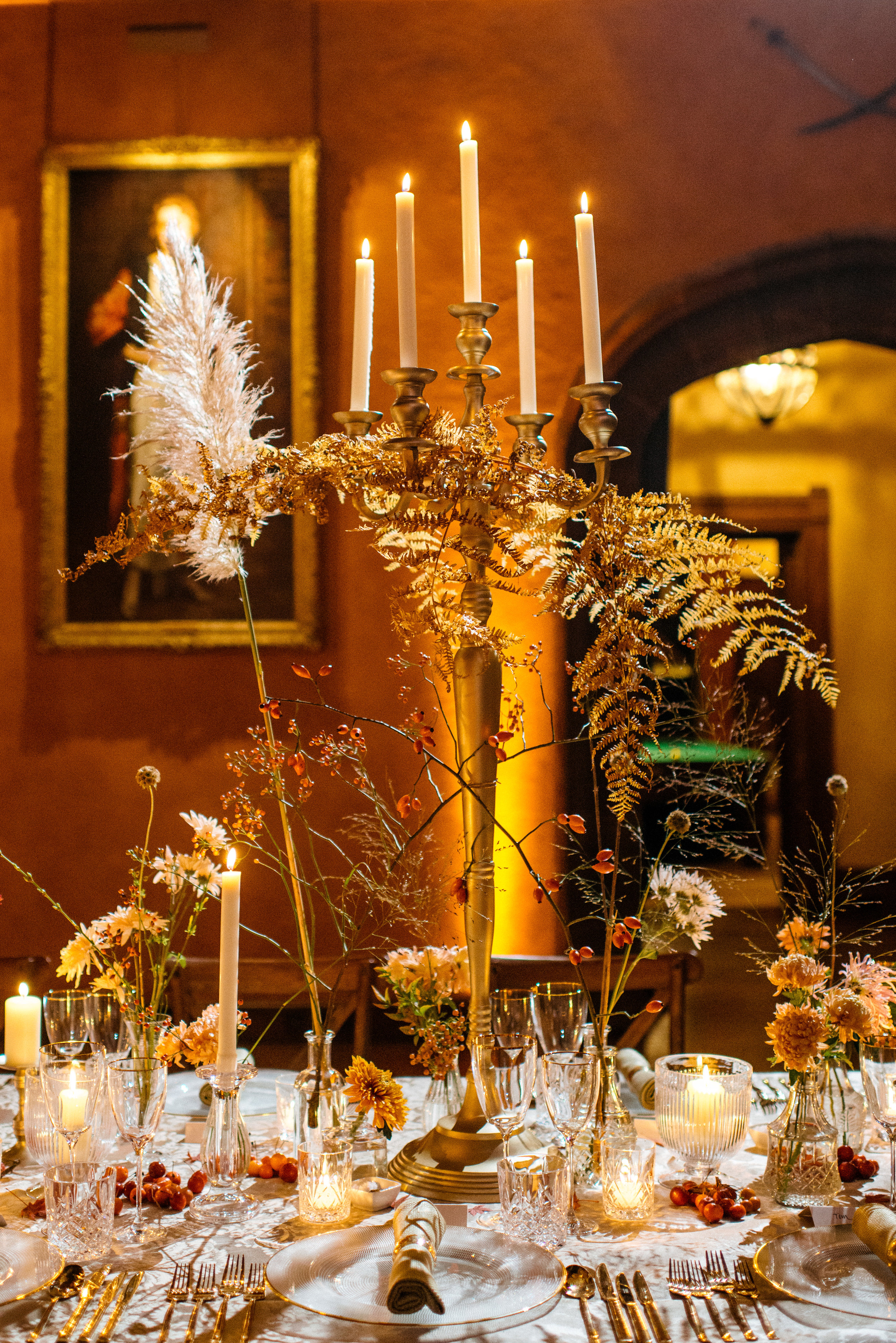 Autumn Dinner at Cowdray House by This Floral Life