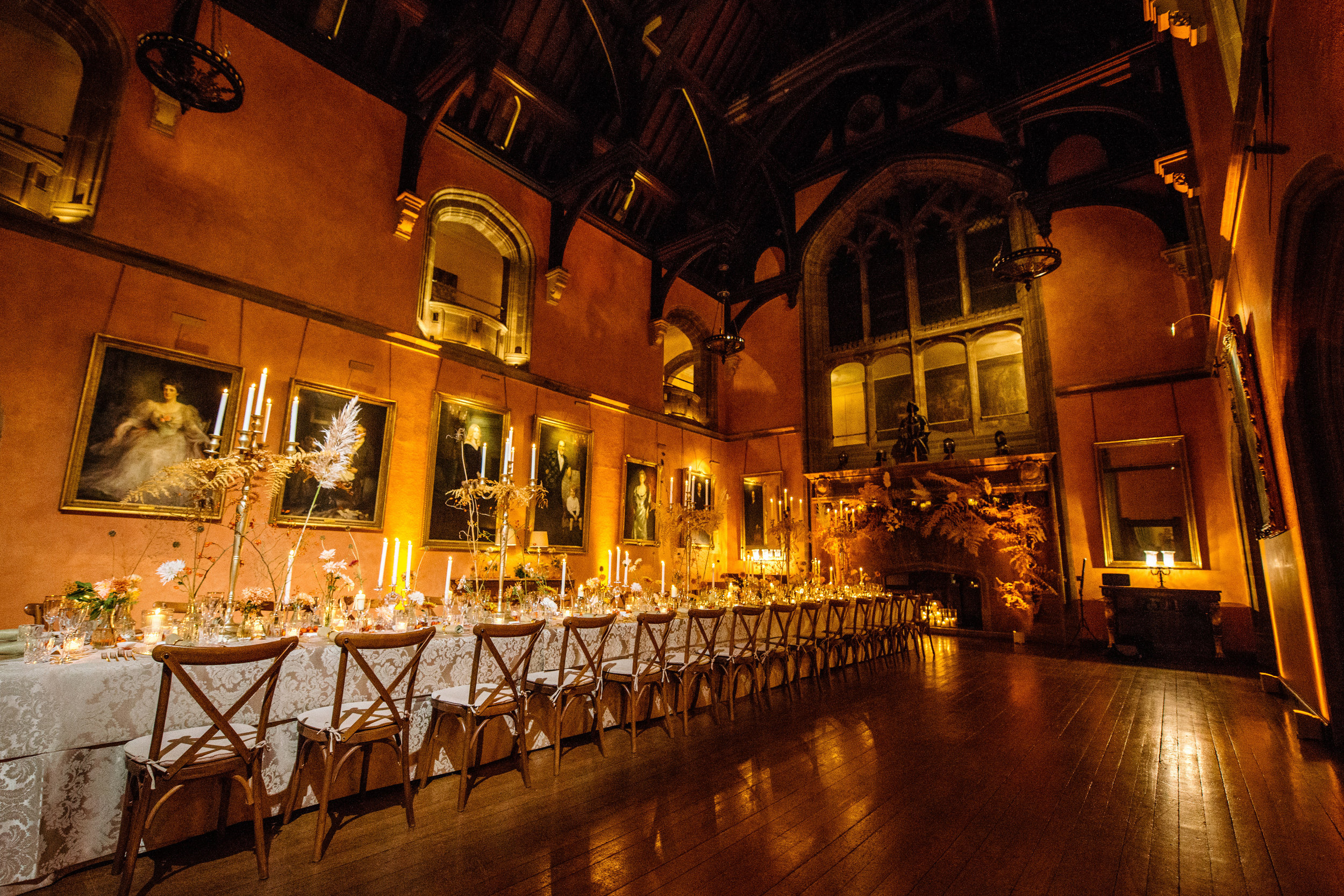 Luxury Dinner at Cowdray House with flowers by This Floral Life