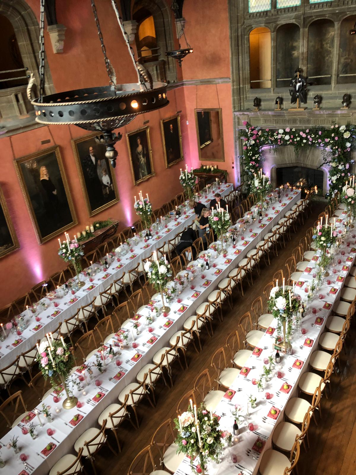 Buck Hall Banqueting tables for 150