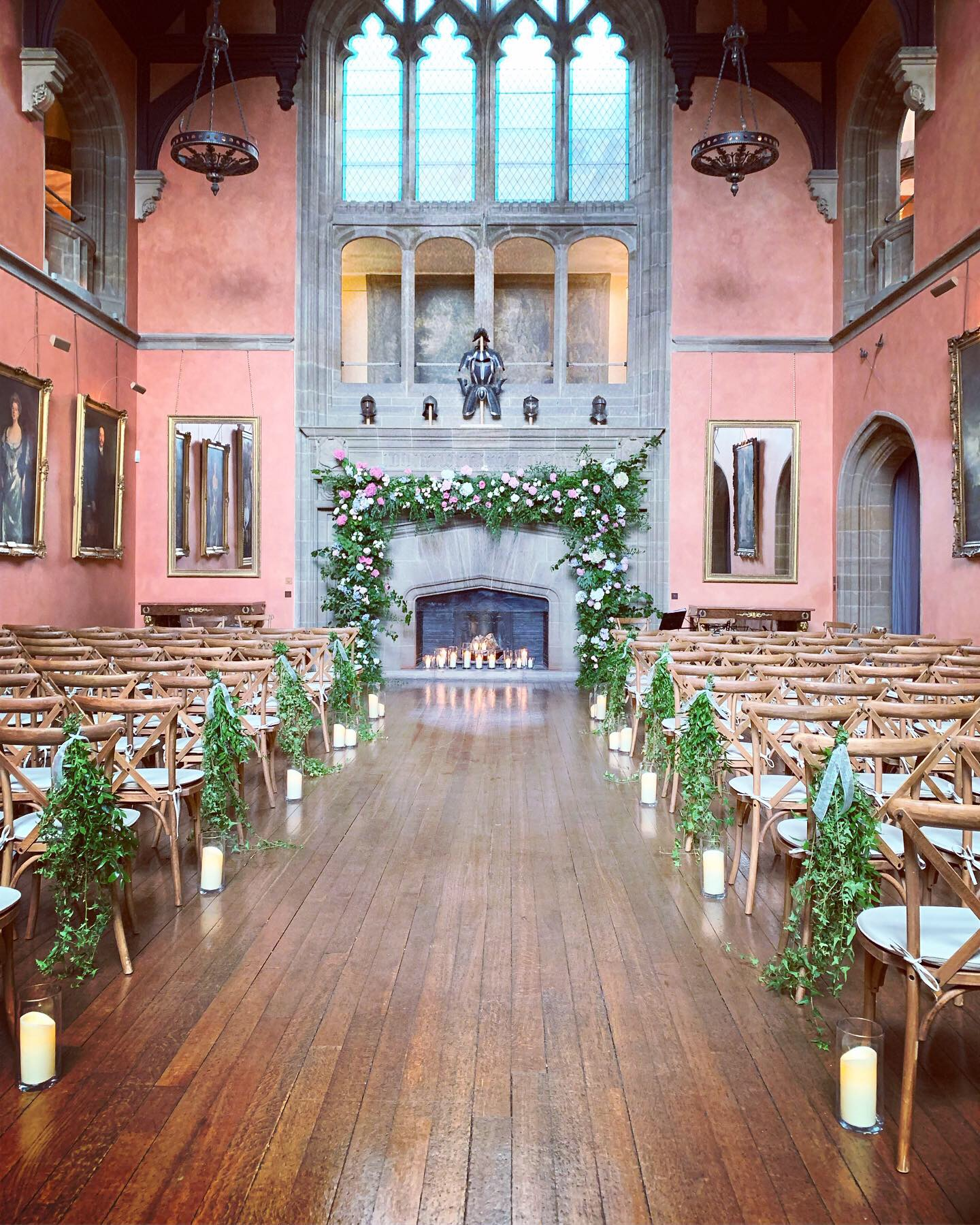 Ceremony Flowers at Cowdray House