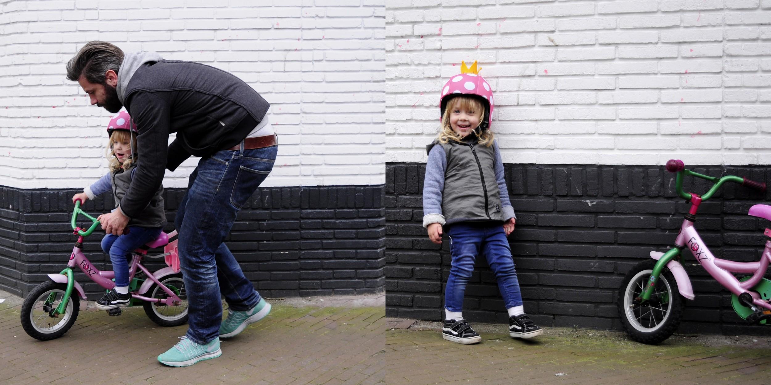 Lena's helmet is by  Egg Helmets