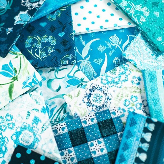 Keep an eye out for #bluebellefabric, now shipping! . . . . . #flaurieandfinch #quilting #sparkle #fabricdesign #blue