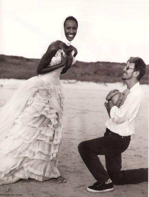 annasheffield :     Love eternal //    David Bowie and Iman