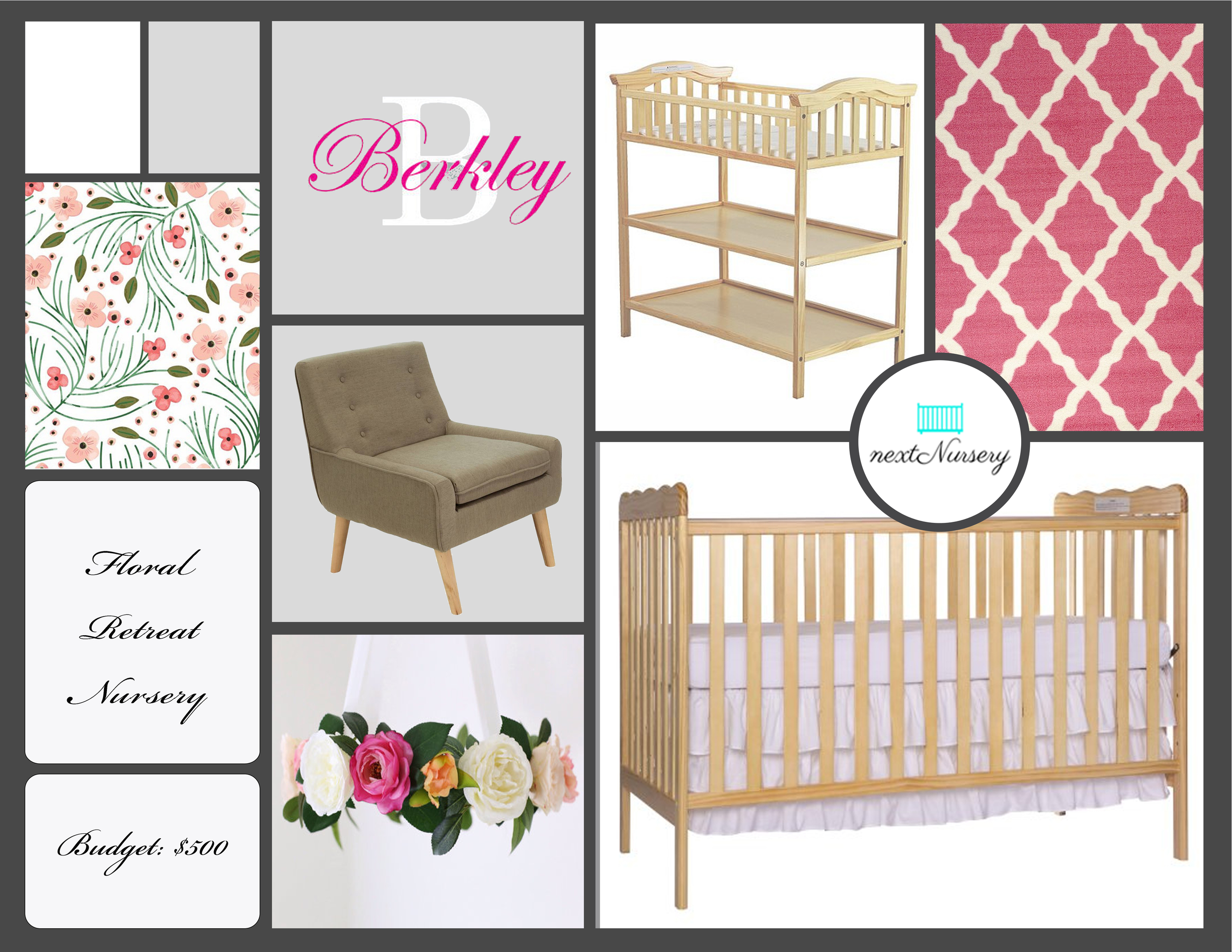 Floral Retreat Baby Girl Nursery