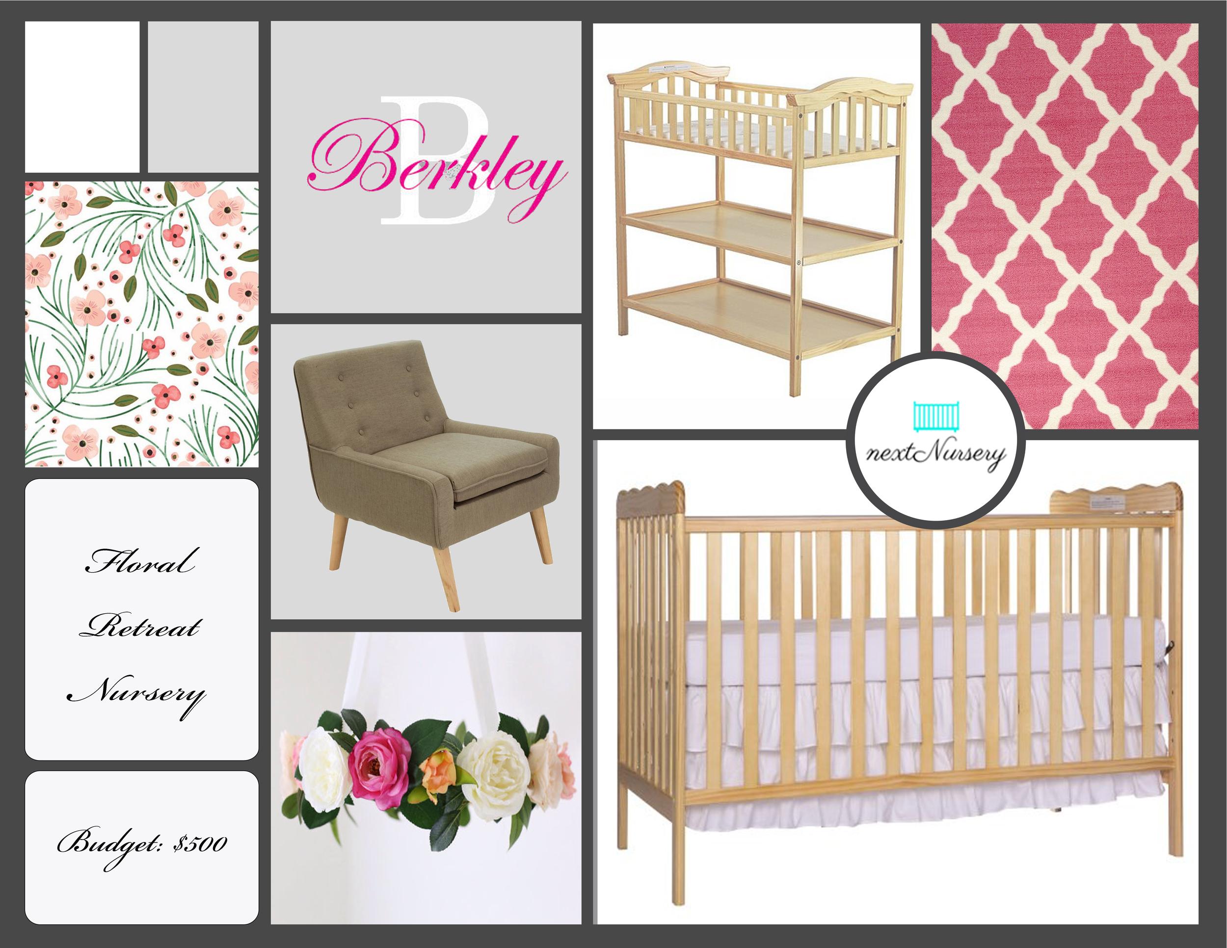 Floral Retreat Baby Girl Nursery