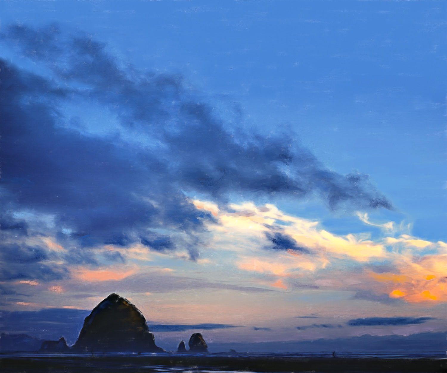 CANNON BEACH IN BLUE