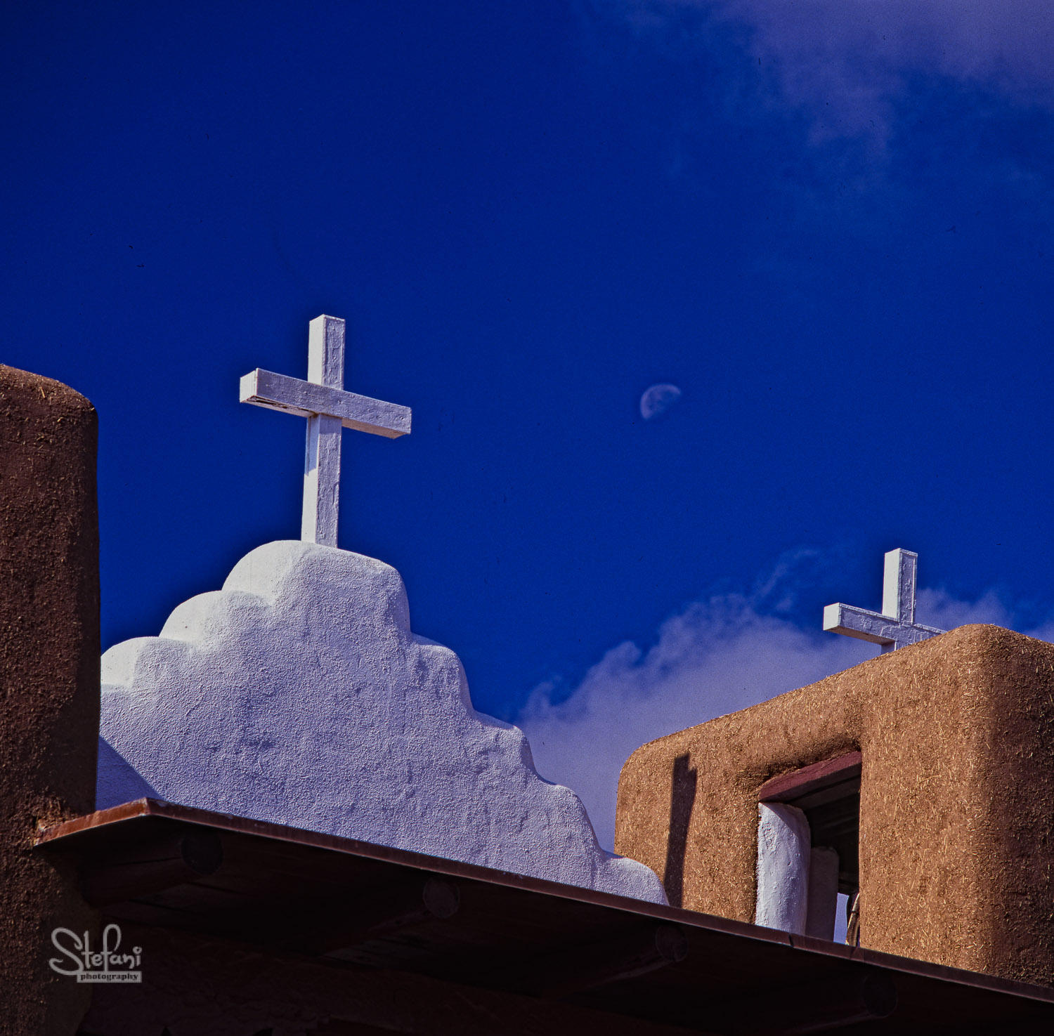 MOONRISE AND CHURCH, TAOS