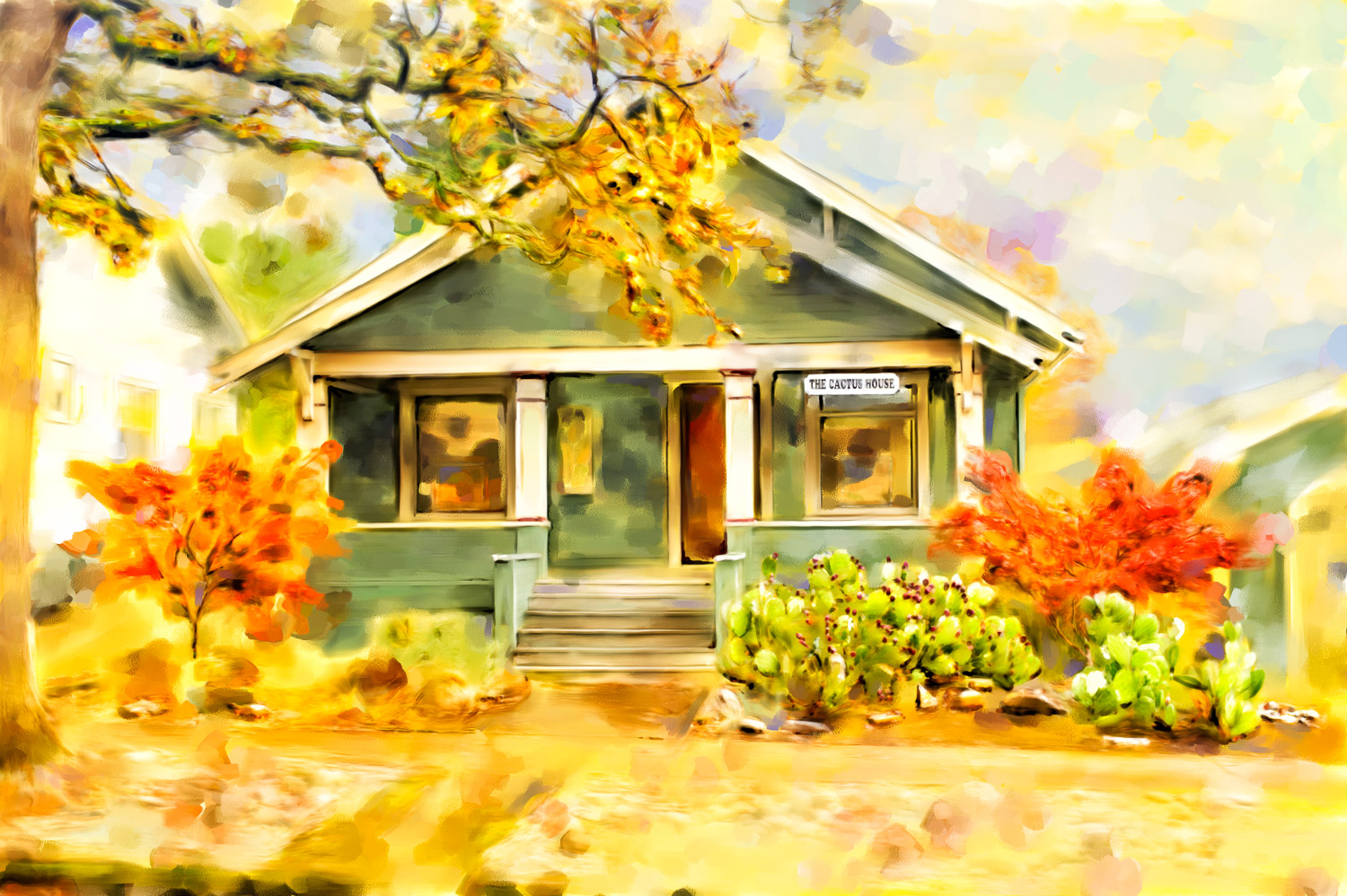Stefani Fine Art is located at The Cactus House in Salem Oregon