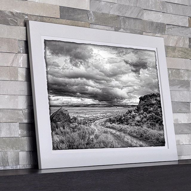 For an artist stormy days offer overwhelming treasures of beauty that visit us for a moment and then are gone forever. This was one moment we were able to capture and share.  Eastern Oregon Approaching Storm by Richard Stefani.  Stunning prints of this image can ship straight to you, ready to hang. ➡️ Link in bio.  #oregonart #upperleftusa #artprintsforsale #blackandwhitedecor #homedecor #onlineartgallery #interiorstyling #salemor #artcollector #landscapeart #asf_artists #oregonartist