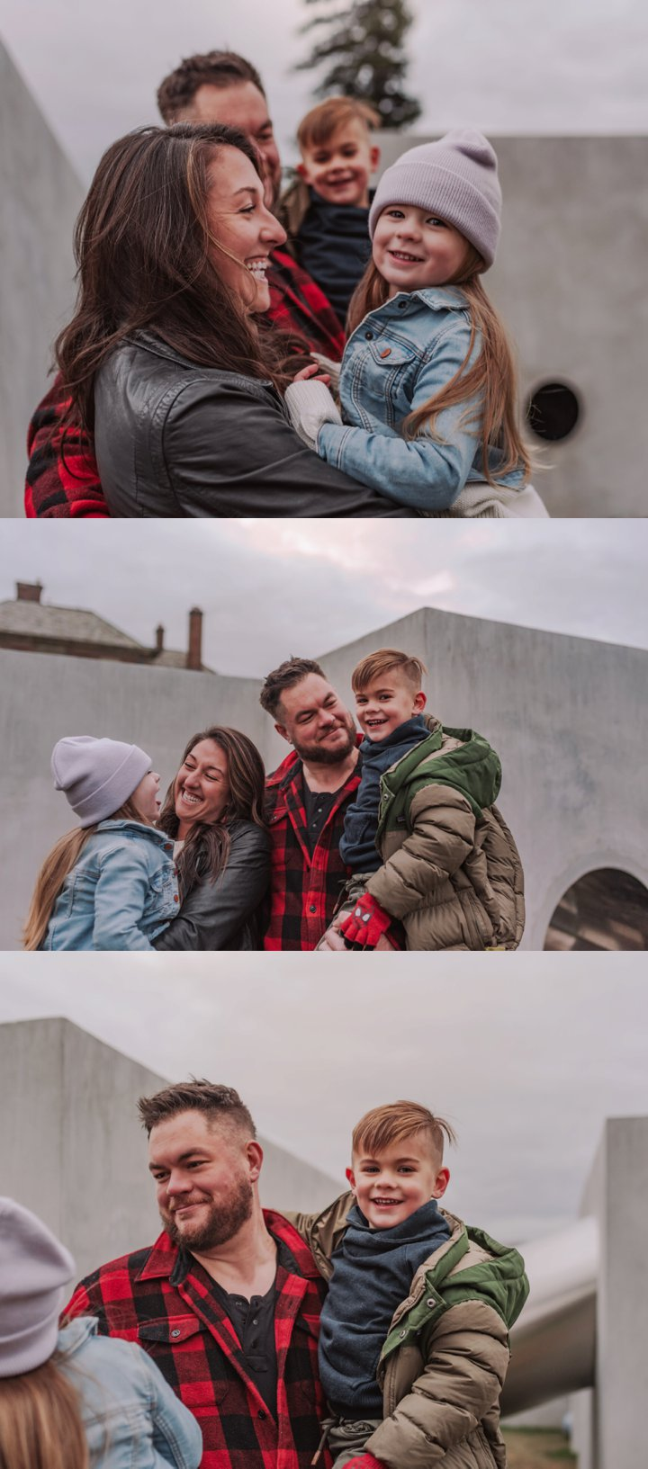Fun, Relaxed Unposed Winter Family Photos /// Modern + Natural Winter Family Pictures by Boston and Cape Cod Family and Children's Portrait Photographer Asher + Oak ///  asherandoak.com
