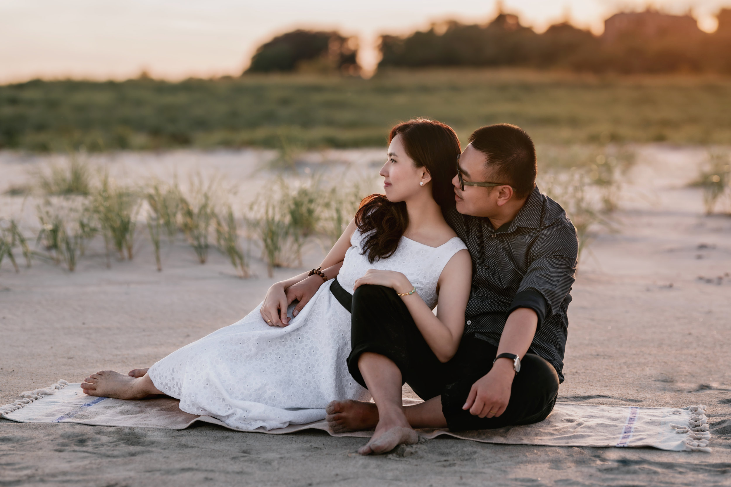 Beautiful and Natural Engagement Portrait Photos at Crane Beach in Ipswich, MA