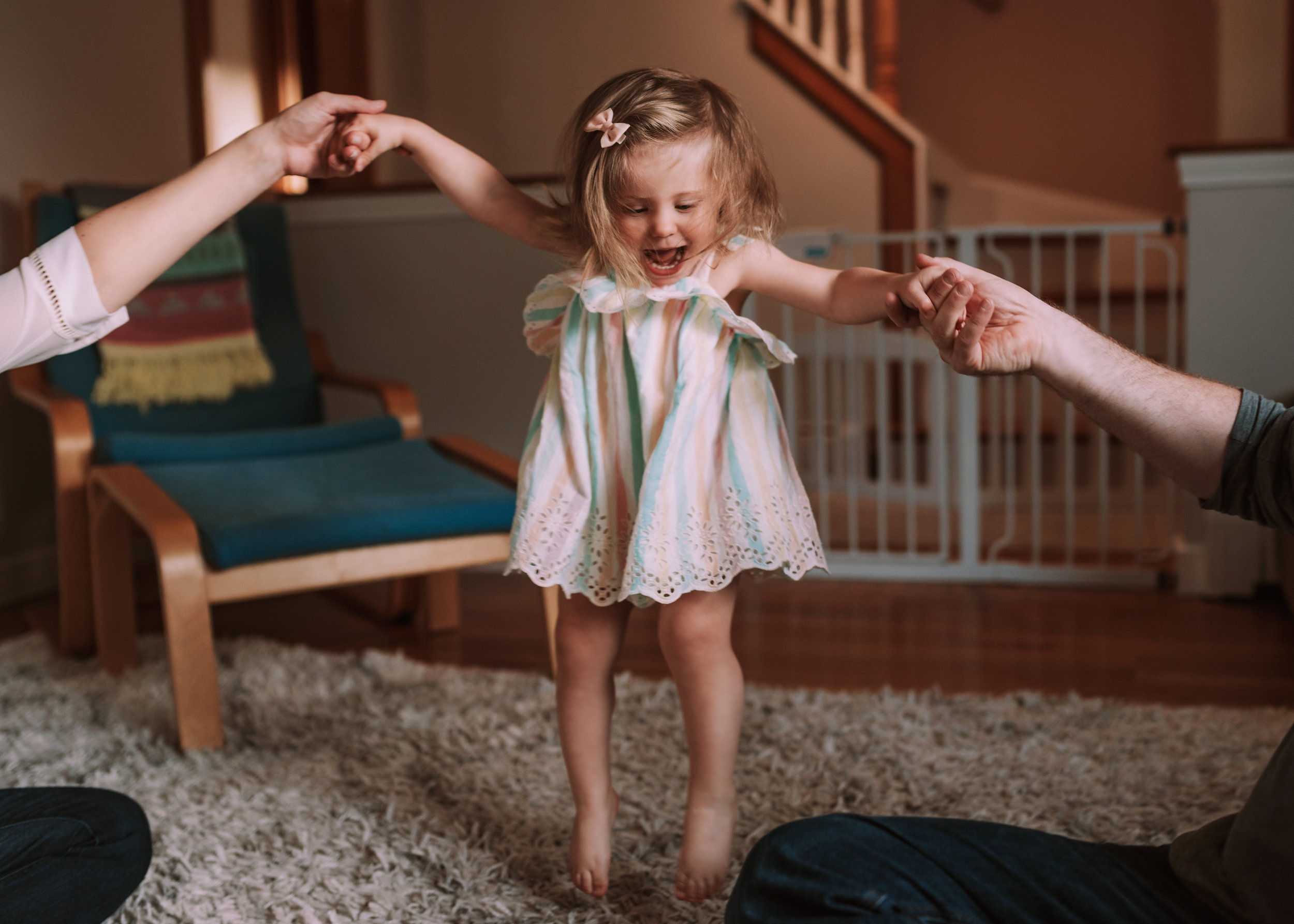 Fun and Relaxed Family Photos at Home in Boston, MA
