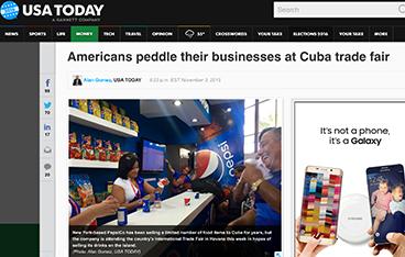 USA Today Covers Cuba Trade Fair