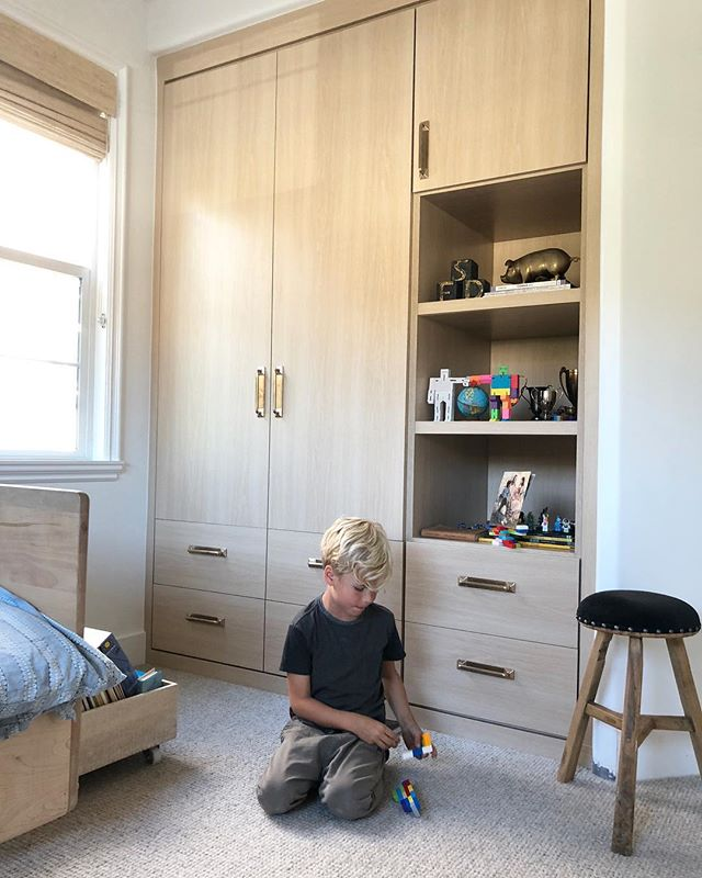 Built-ins for my best boy.  Keeping us organized in a space he can grow into. 💫