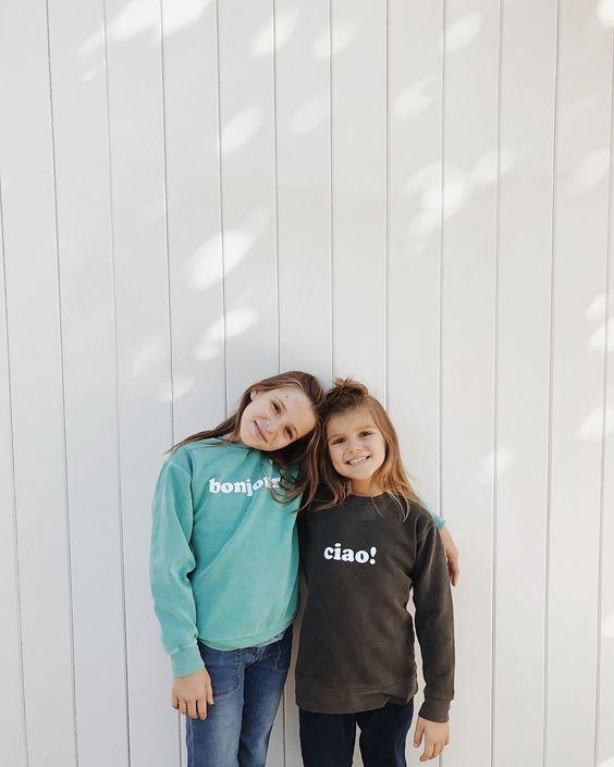 everywear kids creates multilingual sweatshirts so kids can celebrate diversity, too!