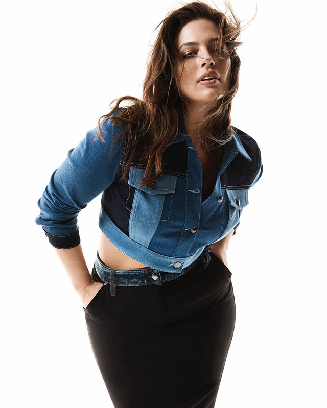 @ashleygraham for @Marina.Rinaldi, art direction by @fadondi, styled by @michyburatti, hair by @francogobbi1, makeup by @georgisandev, manicure by #MoQuin. #ashleygraham #marinarinaldi #denim #beautybeyondsize #marinarinaldi @homeagency @imgmodels @streetersagency @forwardartists