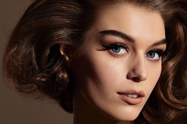 George 😍 @gigimidgley @womenmanagementny with hair by @lucas.a.wilson, makeup by @gracegraceahn, styling by @yessirjesper. @homeagency @julianwatsonagency #beauty #hair
