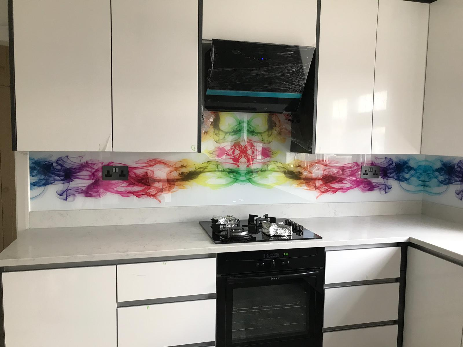 Glass Splashback  Kitchen Printed Panels Heat Resistant Toughened Glass 60x65cm