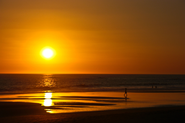 Enjoy the beautiful sunsets the Pacific Coast has to offer.