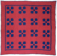 "Bear Paw Quilt, 1890-1910  Cotton 74""x 72"" Gift of Kim Walde & William Green SJMQT Collection 1999.264.004"