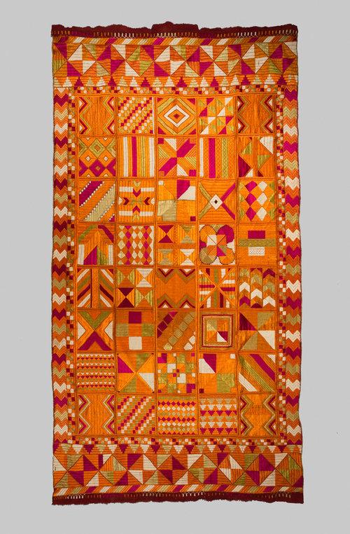 Phulkari, Punjab Artist Unknown Silk embroidery thread, cotton Hand embroidery