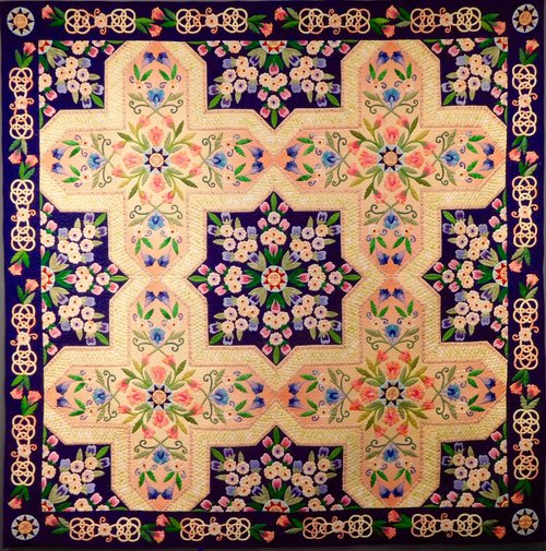 Saeko Hasumuro, Prayer for Peace, Cotton, Hand pieced, applique and hand quilted