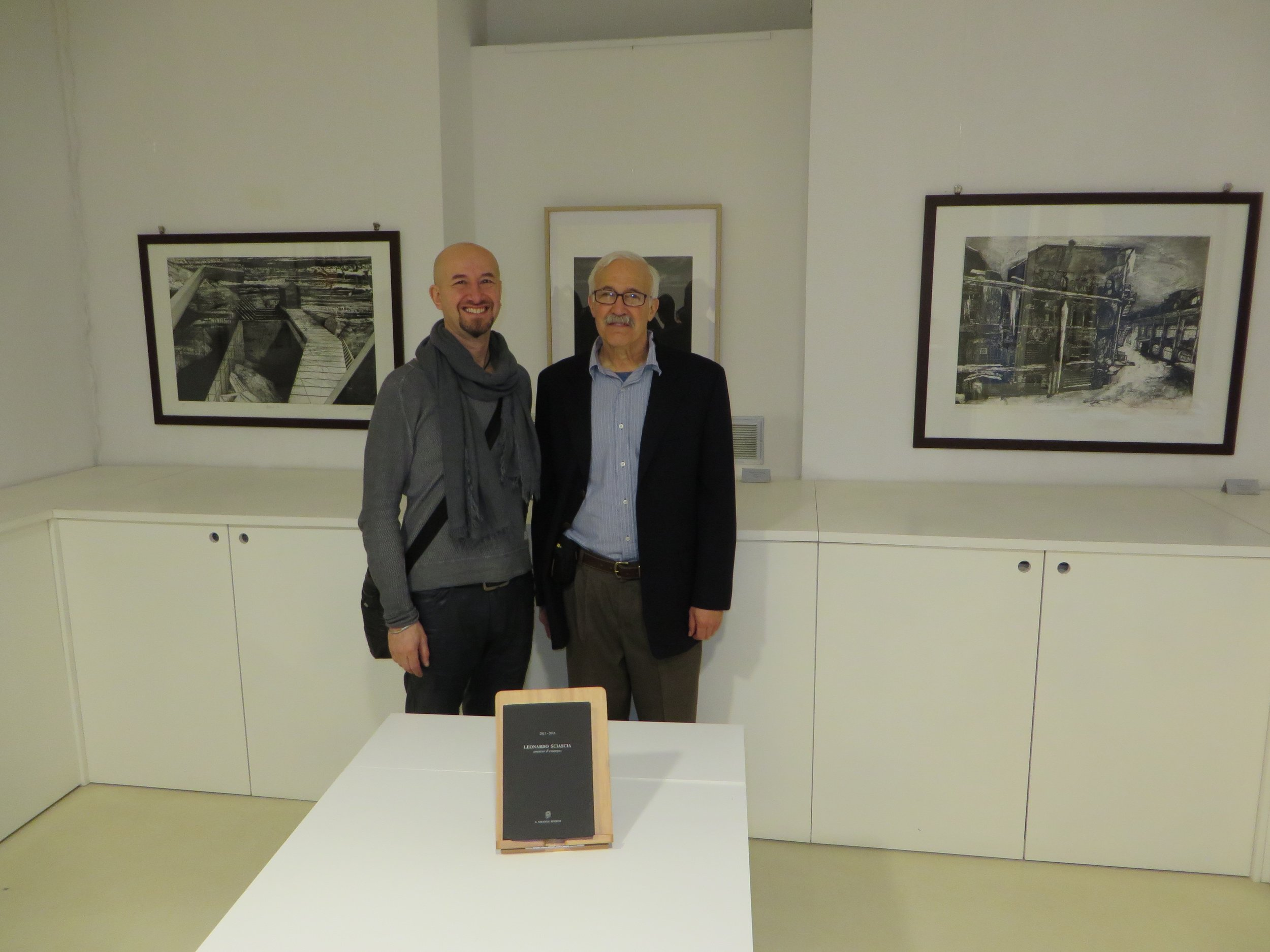 With Michael Goro at the Fondazione Federica Galli, Milan, Italy