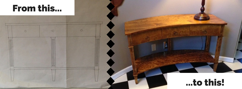 from sketch to finish entry table