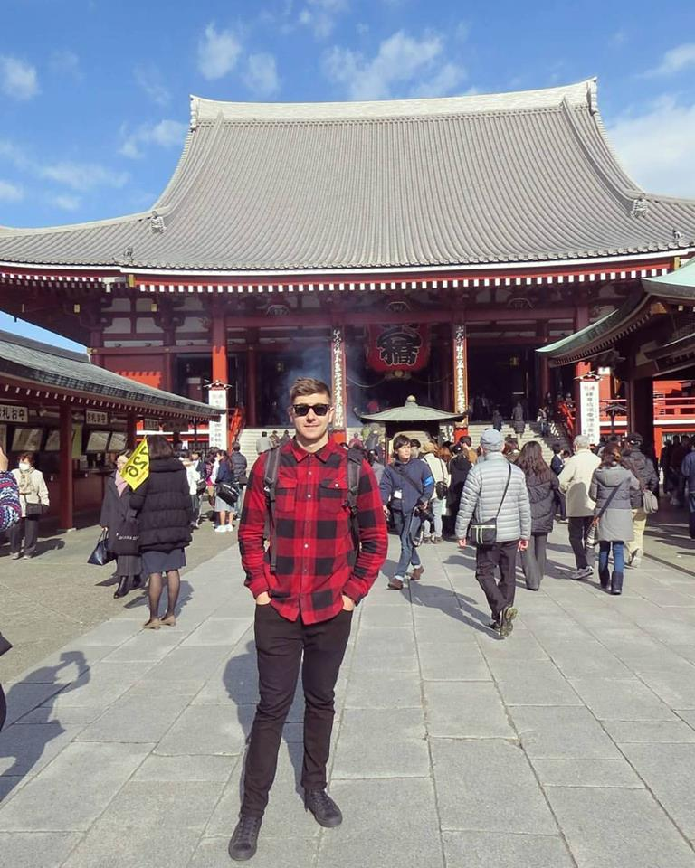 I thought this photo of me hanging out at senso-ji temple (japan) was much nicer than one of me sweating over a barbell