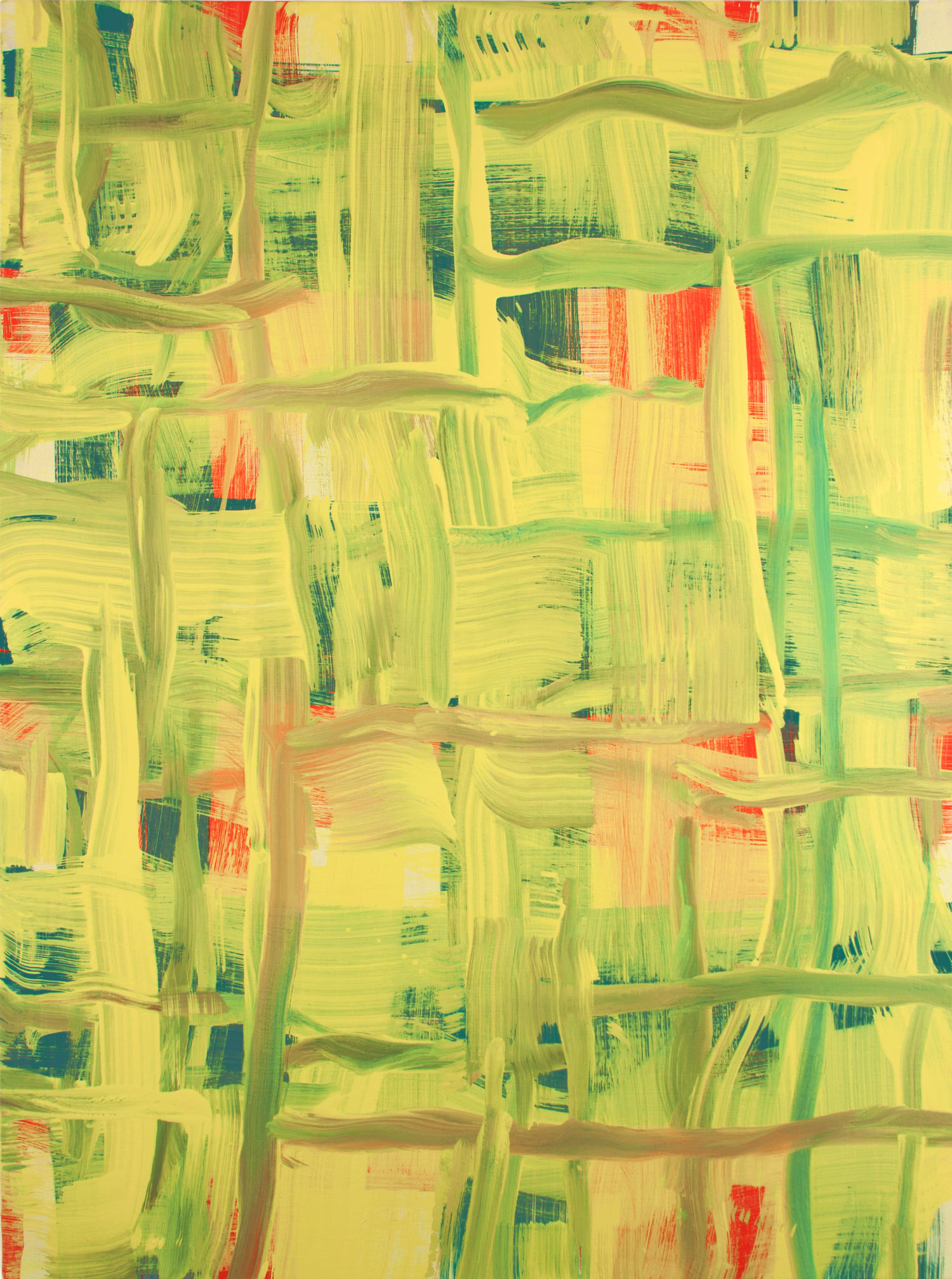Red Line, Green Line , 2013 oil on canvas 40 x 30 in.