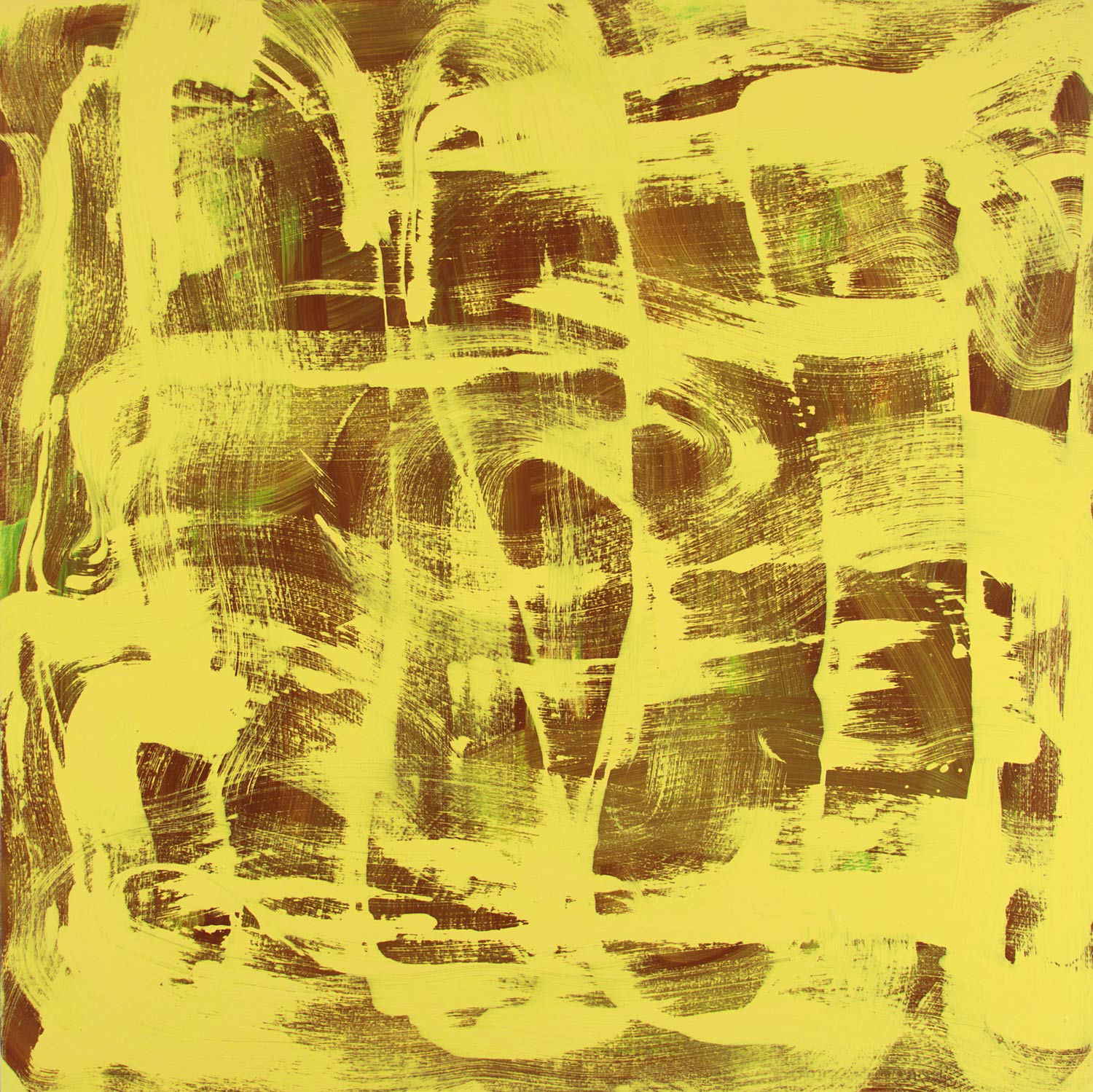Yellow Twist , 2013 oil on canvas 36 x 36 in.  private collection
