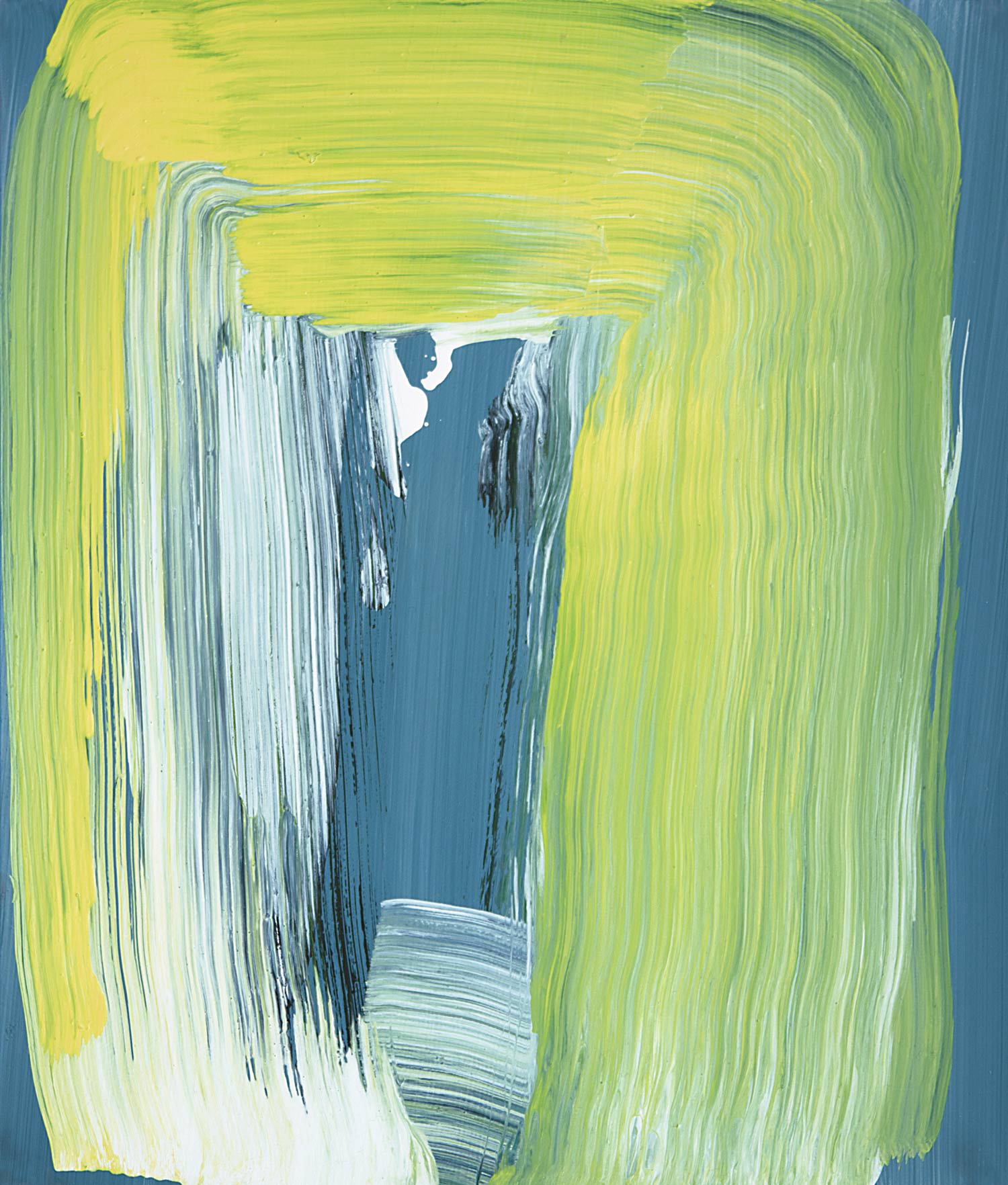 Yellow Frame Swash , 2014 oil on gessoed paper 13.25 x 11.25 in. Private Collection