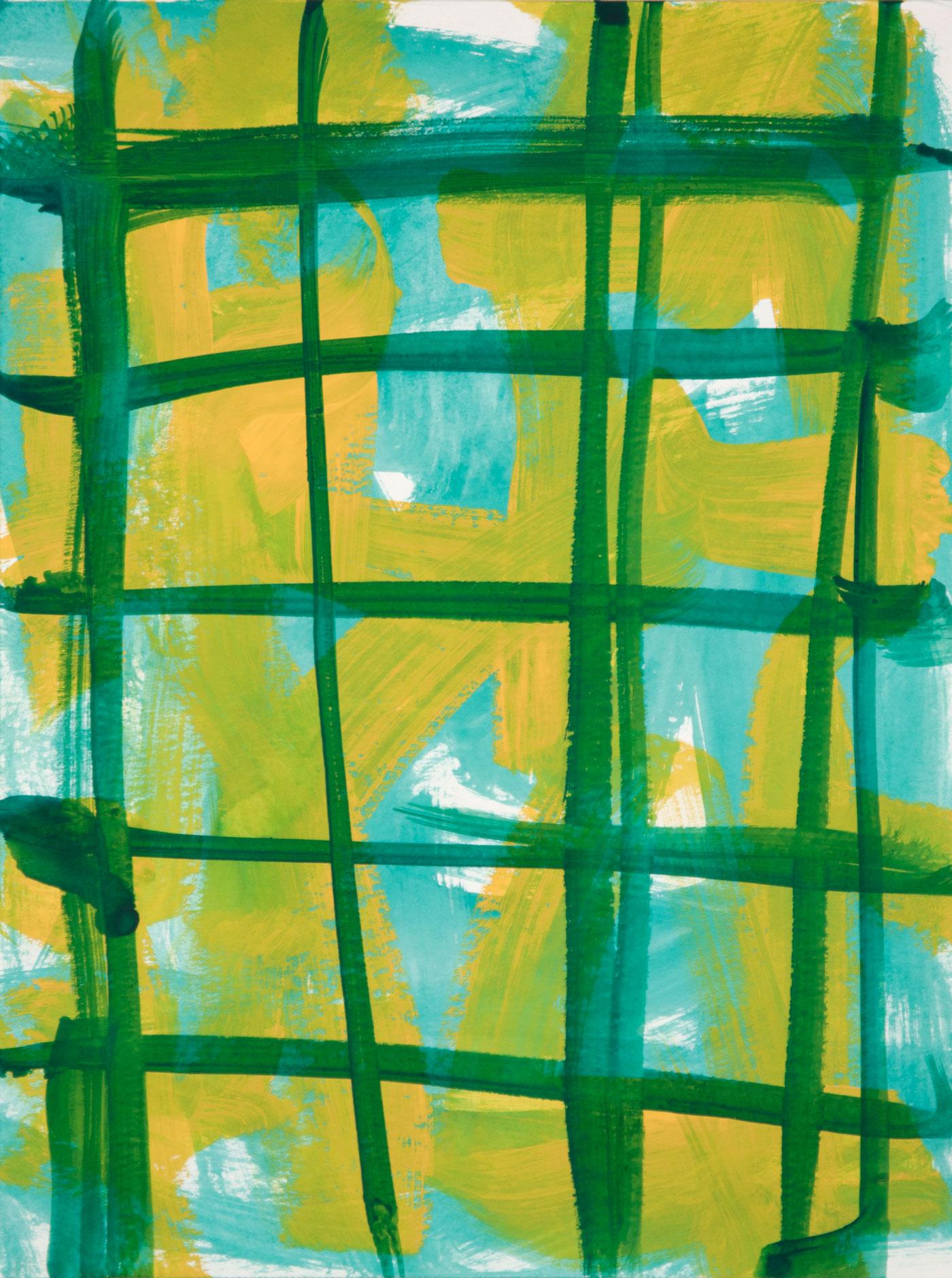 Crosshatch 10 , 2012 casein on Arches 12 x 9 in.