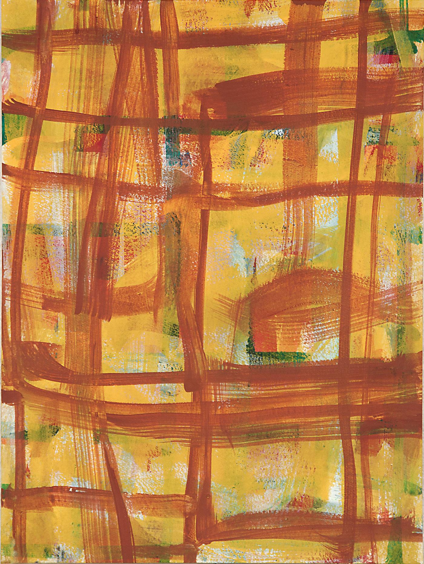 Crosshatch 12 , 2012 casein on Arches 12 x 9 in.