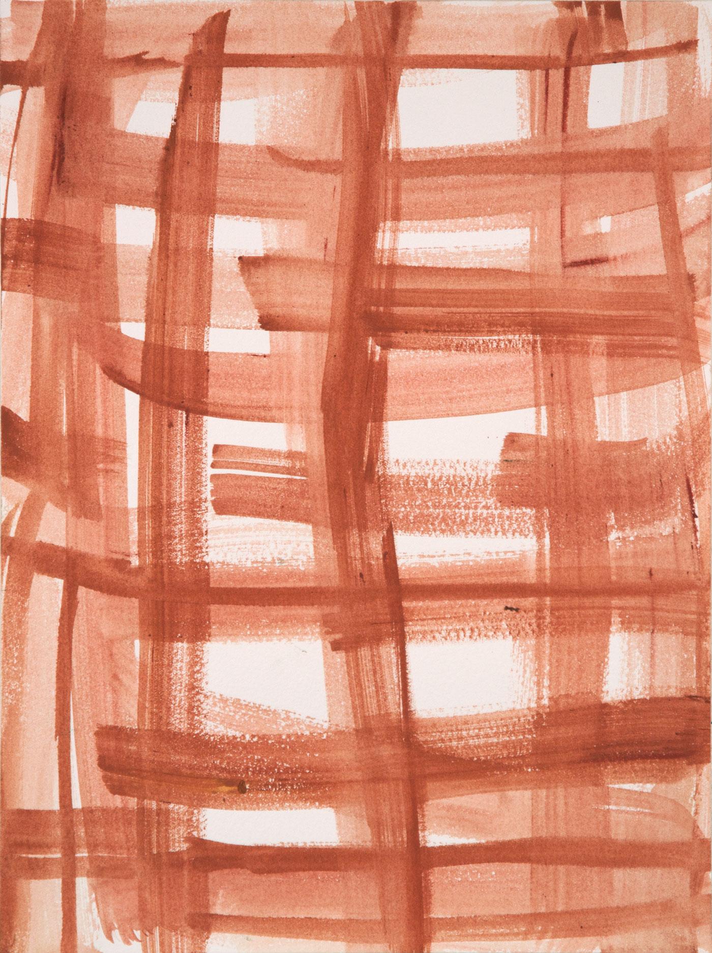 Crosshatch 14 , 2012 casein on Arches 12 x 9 in.
