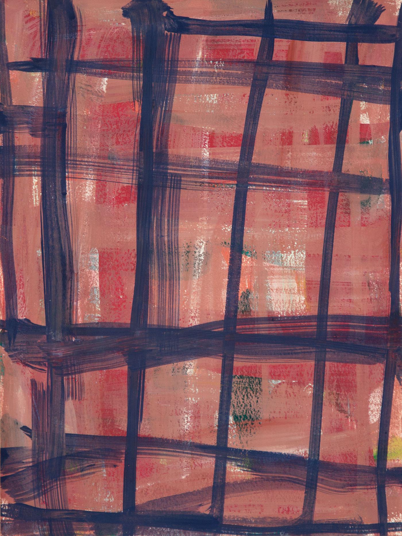 Crosshatch 16 , 2012 casein on Arches 12 x 9 in.