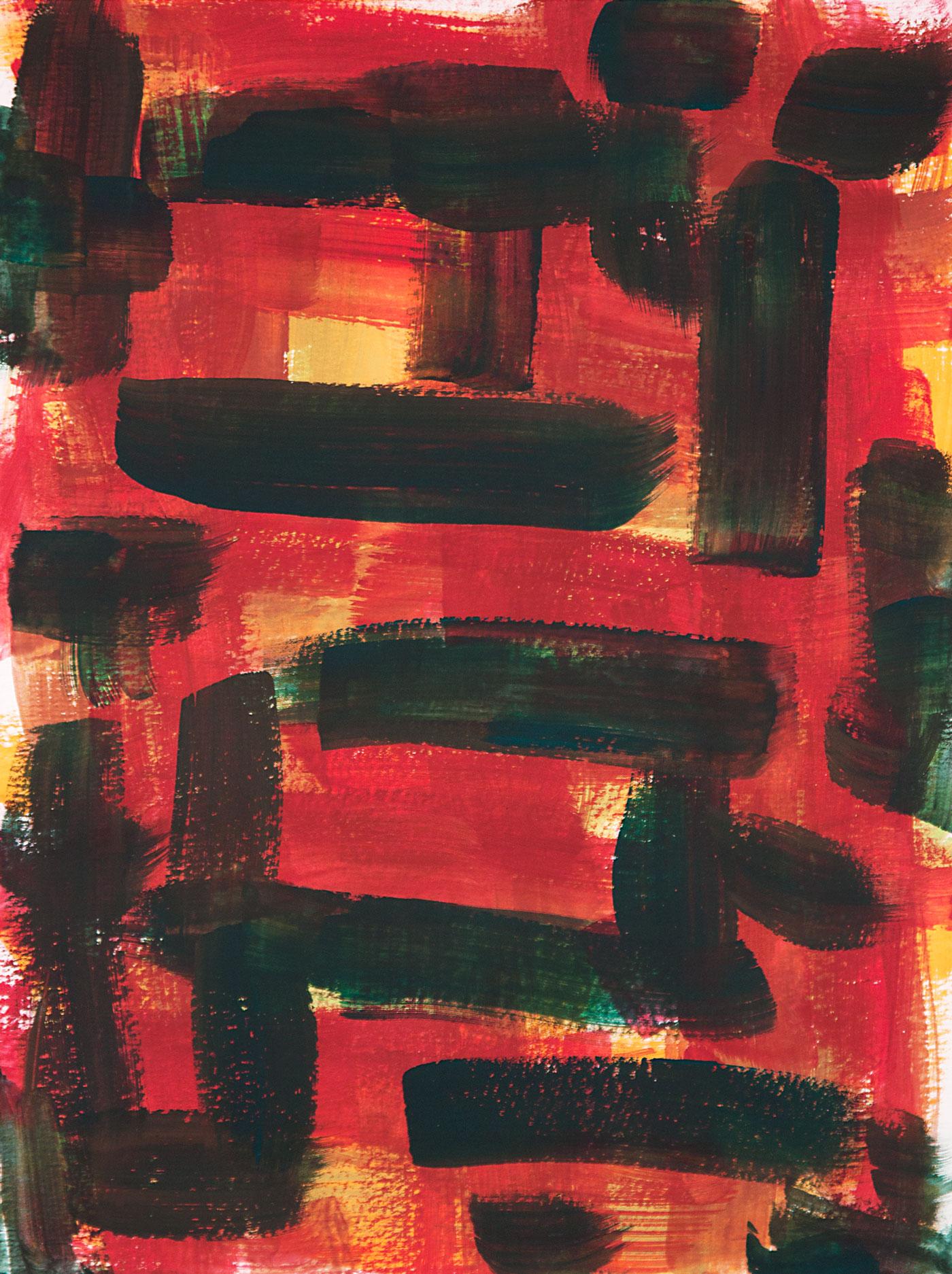 Crosshatch 20 , 2012 casein on Arches 12 x 9 in.