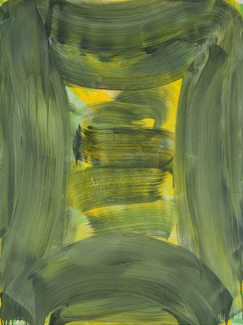 Anne Russinof,  Citron Vault , 2015, oil on canvas, 48 x 36 in.