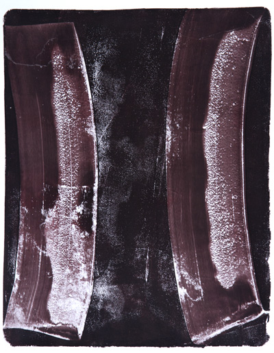 Anne Russinof,  Arcs 89 , monoprint, 2016, 11 x 8.5 in.