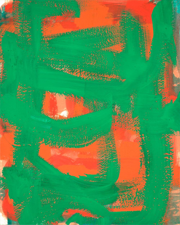 Crosshatch 1 , 2012 casein on Arches 10 x 8 in.