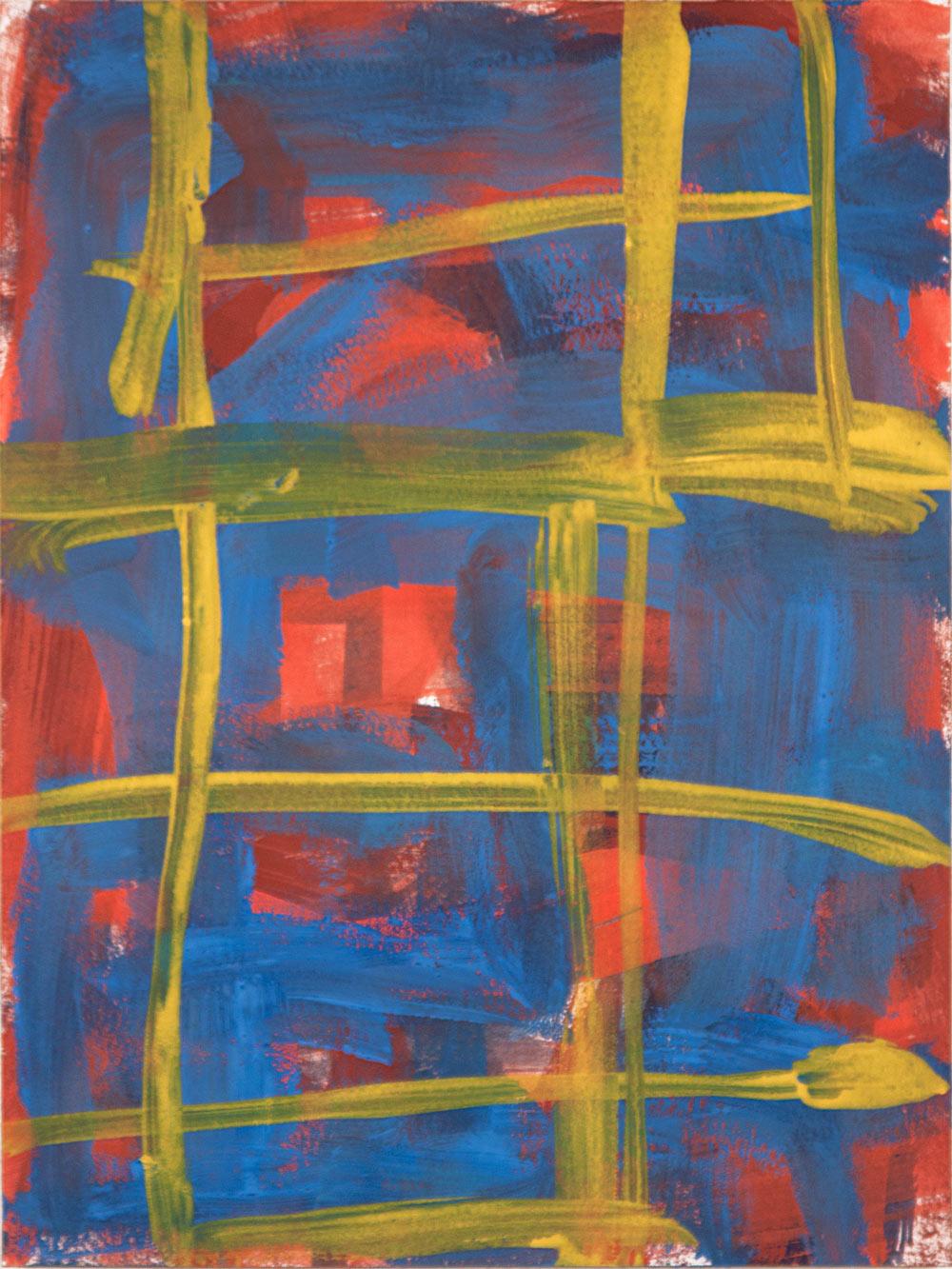 Crosshatch 11 , 2012 casein on Arches 12 x 9 in.