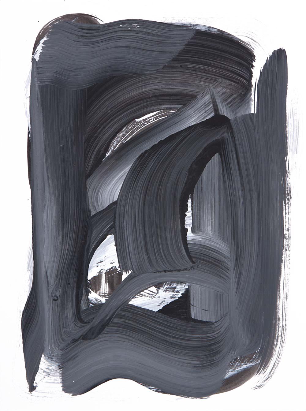 Wiseguy 5 , 2017 Acrylic 12 x 9 in.