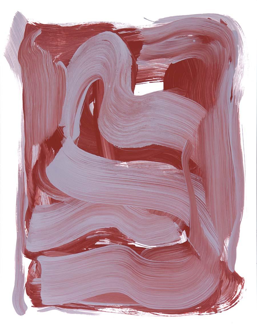 Windjammer 9 , 2017 Acrylic 14 x 11 in.