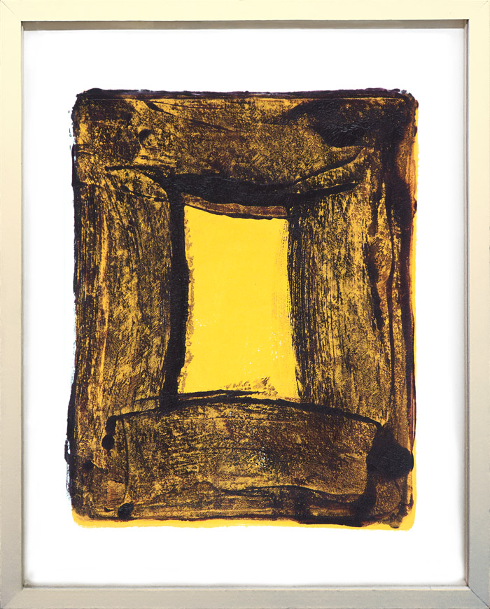 Anne Russinof,  Window 3 , monotype, 2016, 11 x 8.5 in. (image)