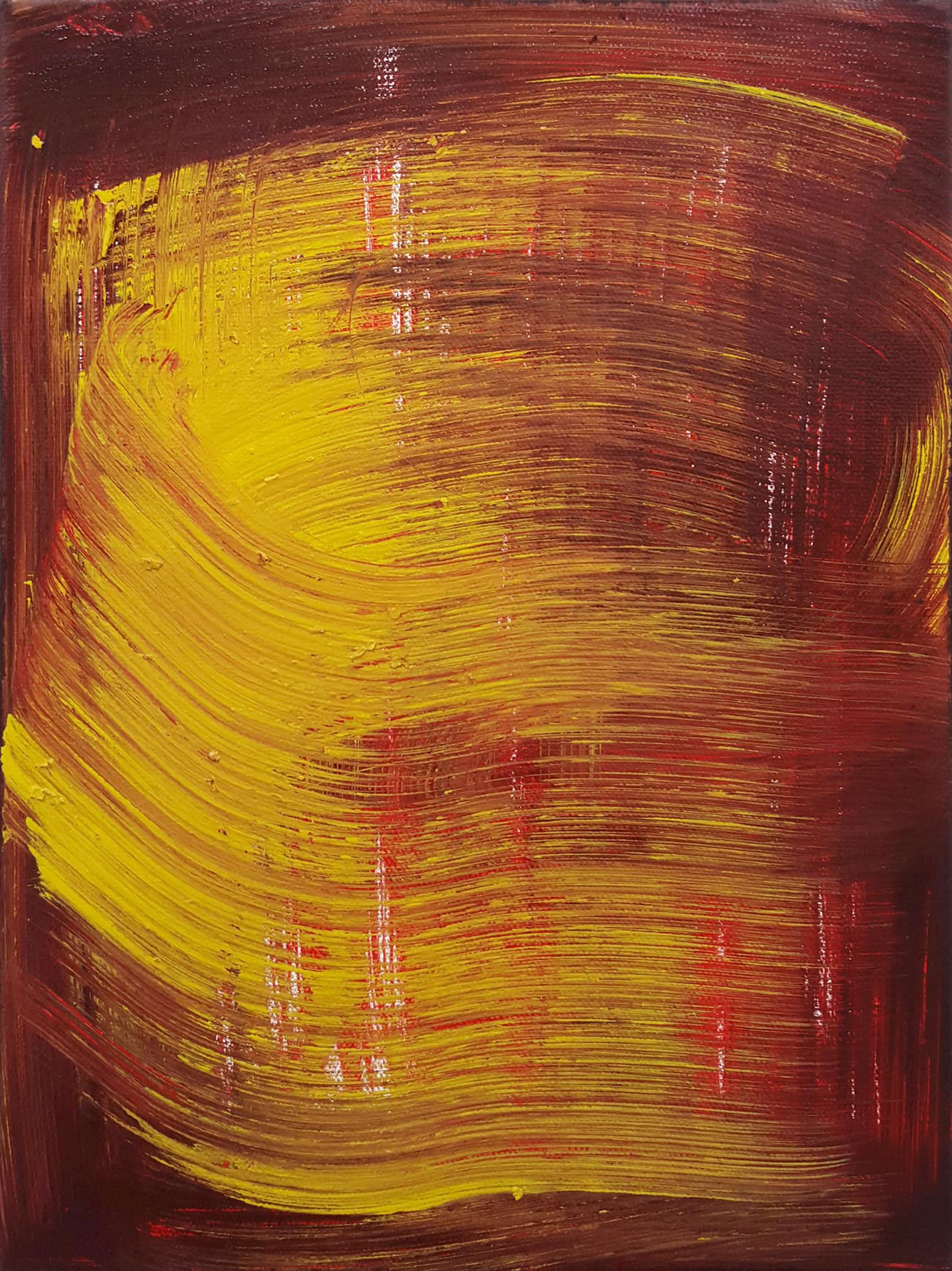 Autumn Swipe , 2015 oil on canvas 12 x 9 in.
