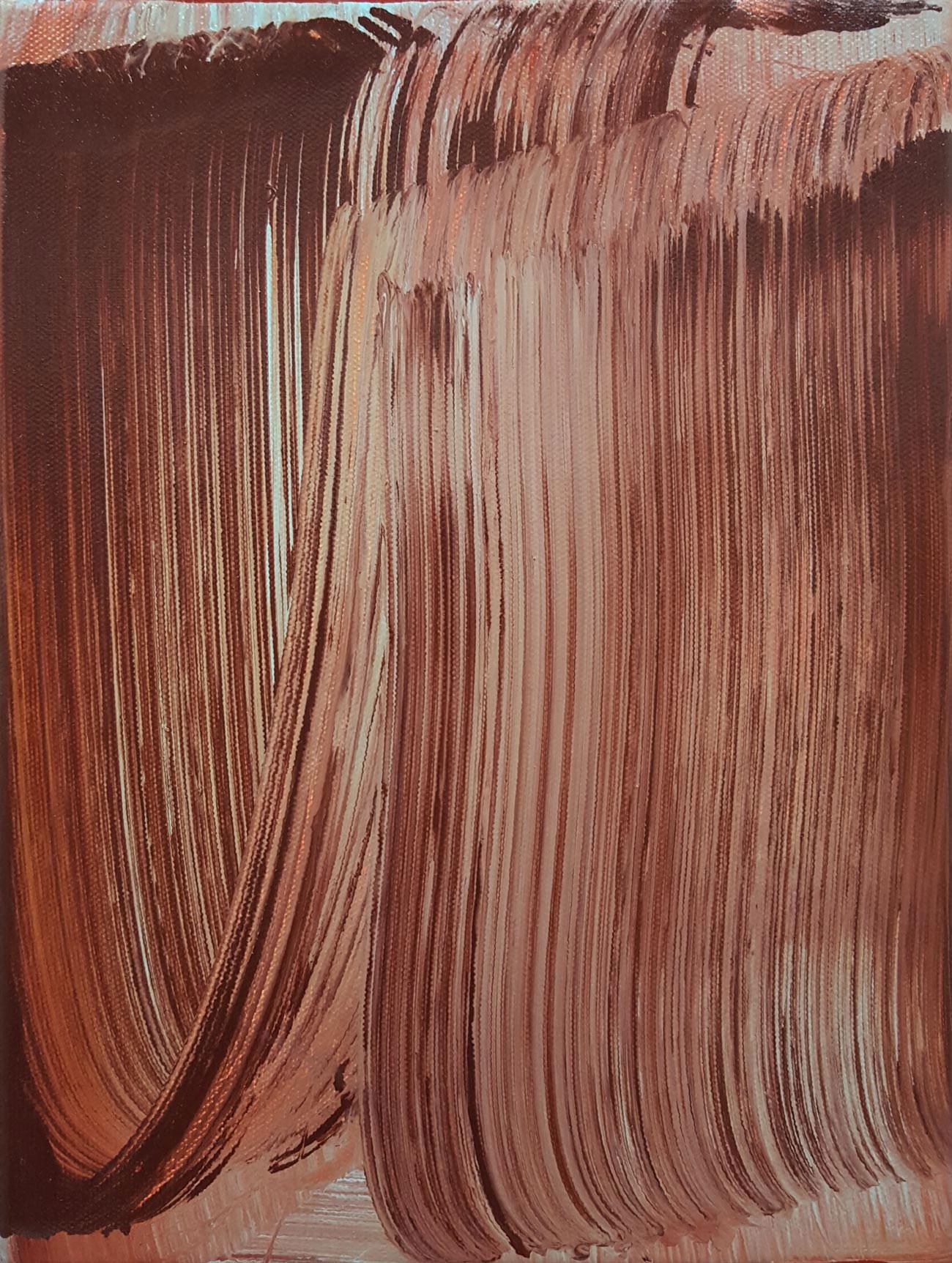 Rainy Swipe , 2015 oil on canvas 12 x 9 in.