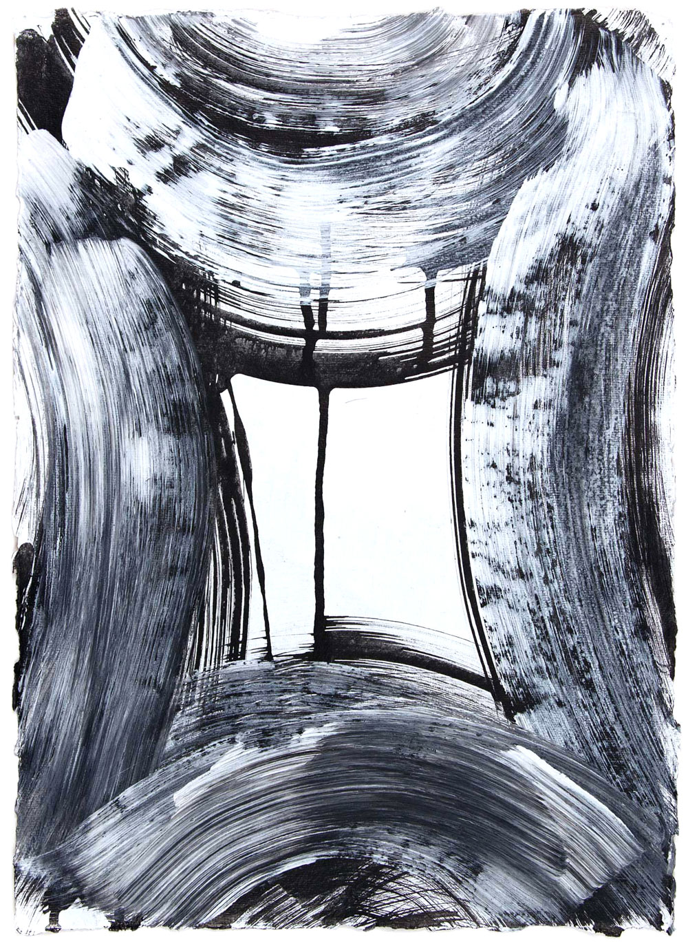 Vault 9, 2015 Sumi ink and gesso on paper 16.5 x 12 in.