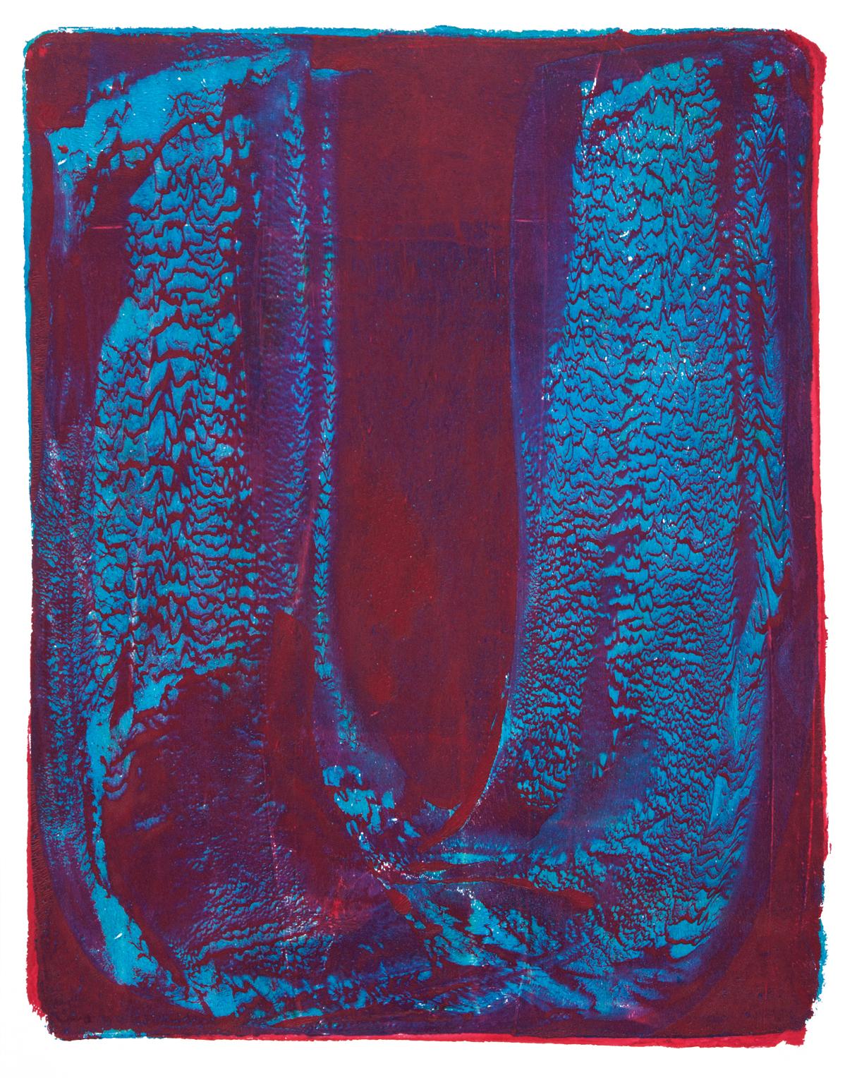 Blue U , 2016 Monotype 11 x 8.5 in.